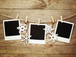 Polaroids and snowflakes
