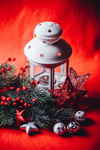 Lantern and Christmas decorations