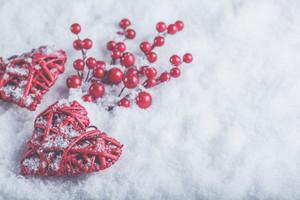 Snowy hearts