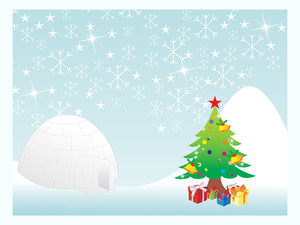 Christmas Snowflake Background Series