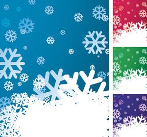 Christmas Snowflake Vector Background.