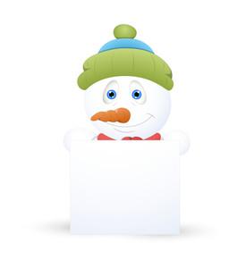 Christmas Snowman Banner