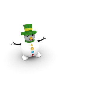 Christmas Snowman Illustration