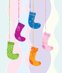 Christmas Socks. Vector.