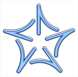Christmas Star Snowflake