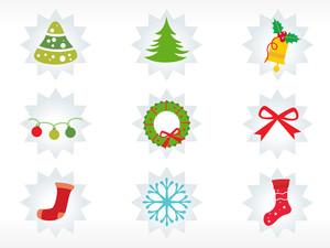 Christmas Sticker Vector Wallpaper
