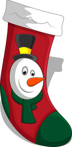 Christmas Stocking Vectors Illustration