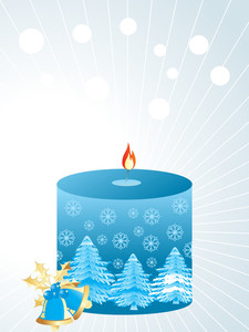 Christmas Style Candle With Bells