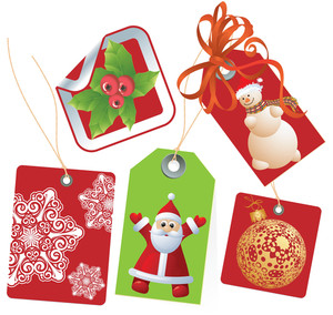 Christmas Tags. Vector.