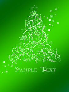 Christmas Tree Card-