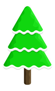 Christmas Tree Decorative Shape