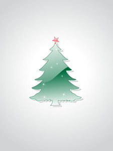 Christmas Tree Isolated On Background