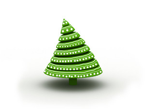 Christmas Tree Isolated On White
