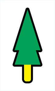 Christmas Tree Vector Shape Art