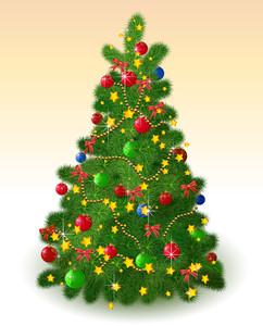Christmas Tree. Vector.