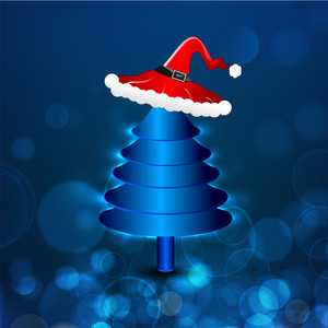Christmas Tree With Santa Hat