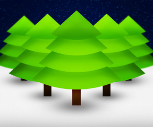 Christmas Trees Background
