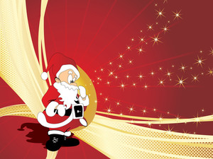 Christmas Vector Background With Santa Claus