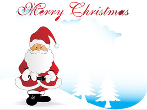 Christmas Vector Design With Santa Claus