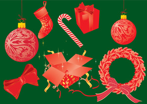 Christmas Vector Elements Set.