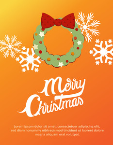 Christmas Vector Illustration (editable Text)