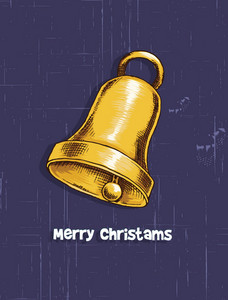 Christmas Vector Illustration With Bells