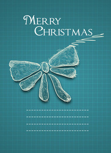 Christmas Vector Illustration With  Bow