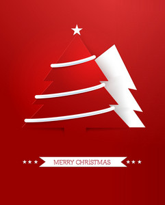 Christmas Vector Illustration With Christmas Tree