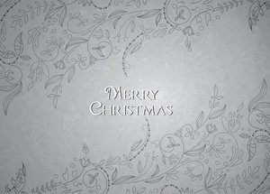 Christmas Vector Illustration With Floral Elements