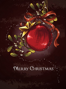 Christmas Vector Illustration With Globe