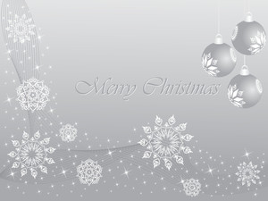 Christmas Vector Illustration With Gray Background