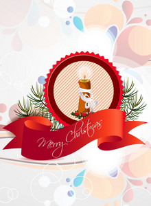 Christmas Vector Illustration With Label