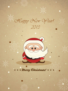 Christmas Vector Illustration With Santa