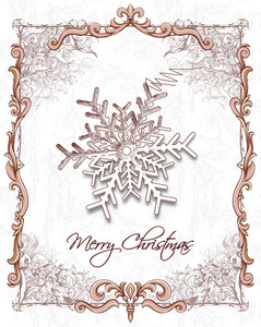 Christmas Vector Illustration With Snow Flake