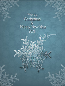 Christmas Vector Illustration With Snowflake