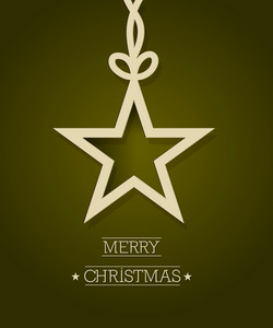 Christmas Vector Illustration With Sticker Christmas Star