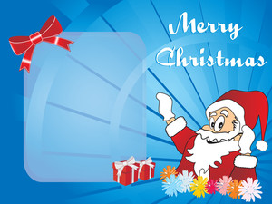 Christmas Vector Wallpaper With Santa Claus