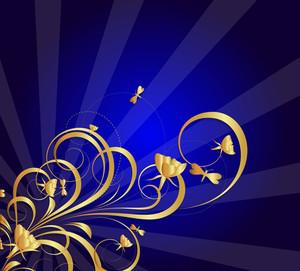 Christmnas Festive Decor Flourish Background