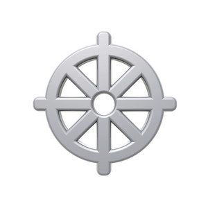 Chrome Buddhism Symbol.