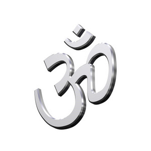 Chrome Hinduism Symbol.