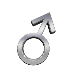 Chrome Male Sex Symbol.
