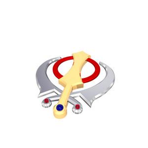 Chrome Sikhism Symbol.