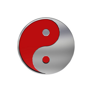 Chrome Yin-yang, Symbol Of Harmony.