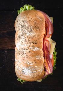 Ciabatta Sandwich From Above