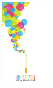 Cigarette With Balloons Instead Of A Smoke. Abstract Vector Illustration.