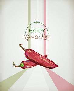 Cinco De Mayo Vector Illustration With Chilli