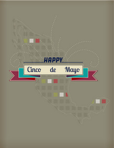 Cinco De Mayo Vector Illustration With Ribbon