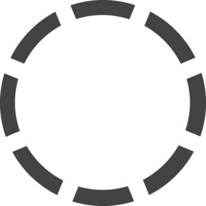 Circle 1 Glyph Icon