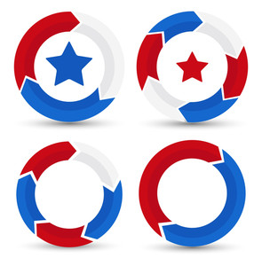 Circle Patriotic Usa Theme Vector