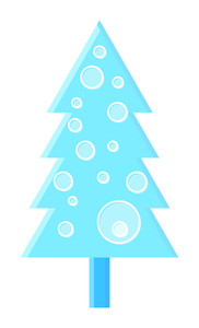 Circle Pattern Christmas Tree